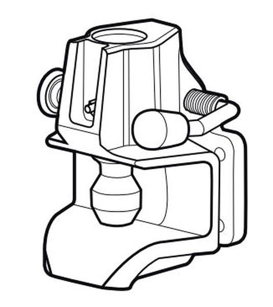 Maulkupplung Rockinger 120x 55, 21,8kN, f. Oese 35mm, 25 mm Bolzen