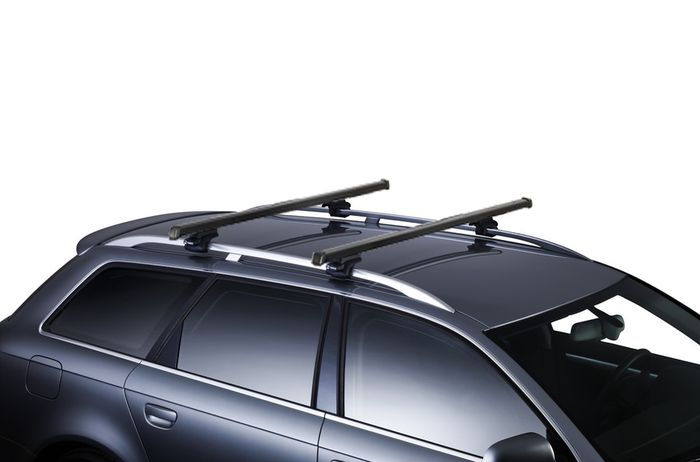 Thule Dachträger m. Stahlprofil f. Mitsubishi Challenger, 5-T SUV Bj. 1999-2016, m. offener Reling