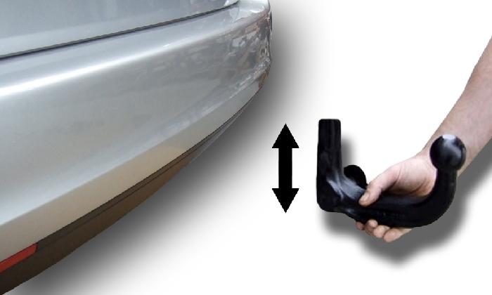 Anhängerkupplung incl. E-Satz Audi-A6 Limousine - 2011-2014 4G, C7, Quattro Ausf.:  vertikal