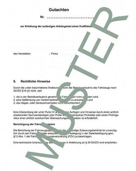 Anhängelast erhöhen Iveco Daily, Typ C35V, 71-130 kW, 05. 1999-(Gutachten)