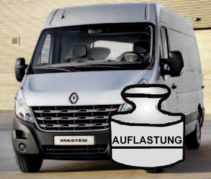 auflastung renault master bj 2014 beeken. Black Bedroom Furniture Sets. Home Design Ideas